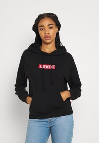 Levi's® - GRAPHIC STANDARD HOODIE - Mikina skapucí - boxtab red/mineral black - 0