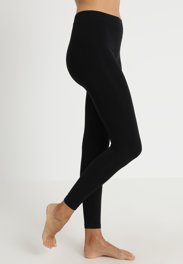 SEAMLESS - Leggings - Stockings - black
