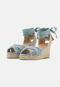 Castañer - BLUMA  - Platform sandals - water blue - 2