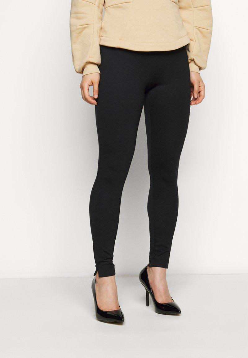 VILA PETITE - VIODINA  - Leggings - Trousers - black