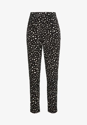 MONO TROUSER - Trousers - black/white
