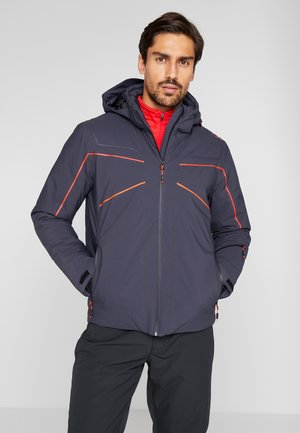 MAN JACKET ZIP HOOD - Skijacke - antracite