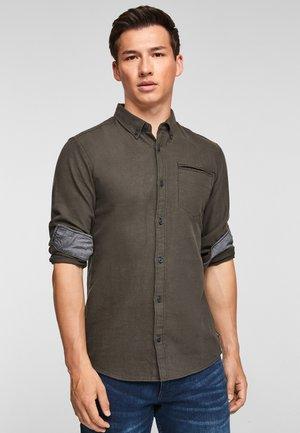 EXTRA SLIM: - Overhemd - olive melange