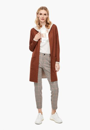 Cardigan - brown melange