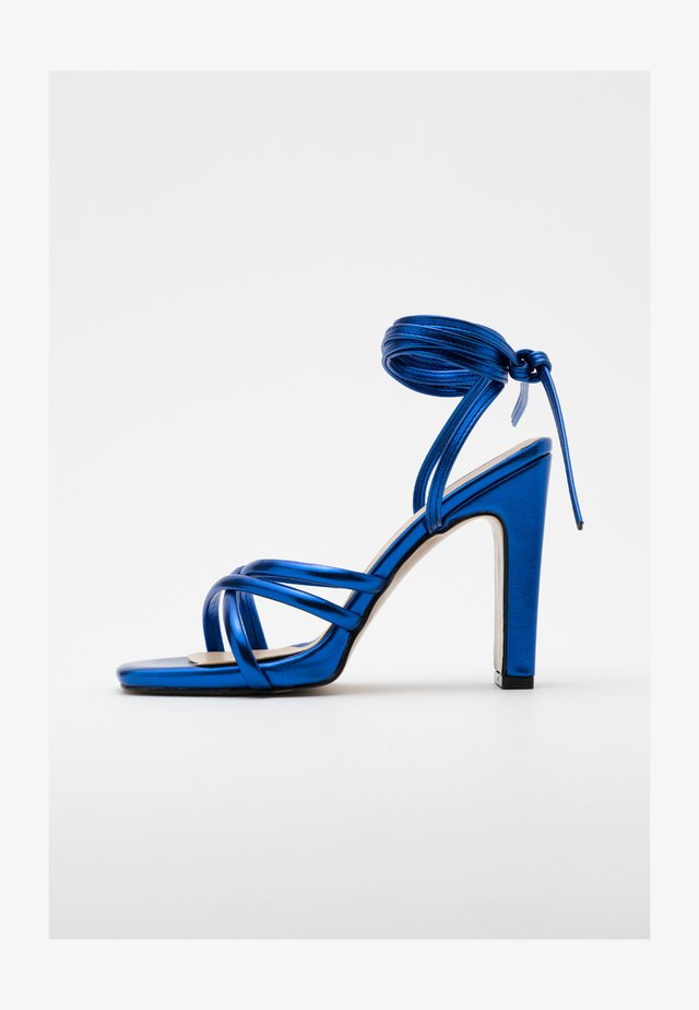 High heeled sandals - lacivert