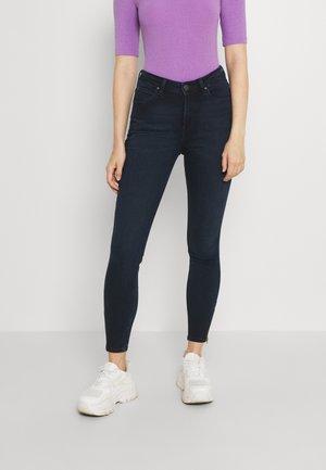 SCARLETT HIGH ZIP - Jeans Skinny Fit - dark lea