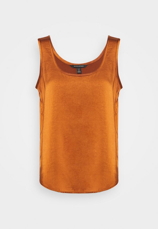 SCOOP NECK SHINE TANK - Bluser - the right spice