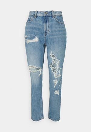 MOM JEANS - Jeansy Slim Fit - worn out blue