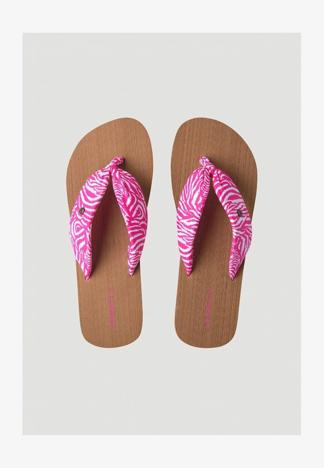 DITSY SUN - Teensandalen - pink or purple with white