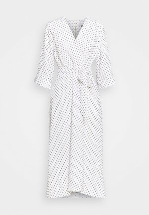 CLOSET HIGH LOW WRAP DRESS - Vardagsklänning - white