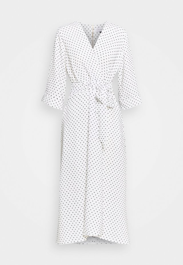 CLOSET HIGH LOW WRAP DRESS - Day dress - white