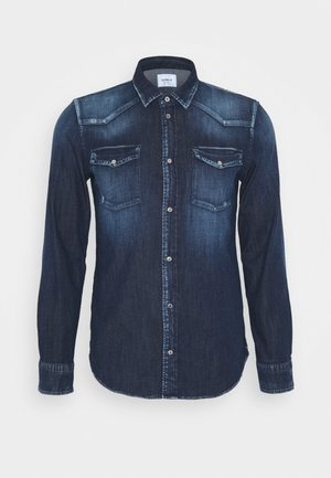 CAMICIA WESTERN BASIC - Skjorte - blue denim