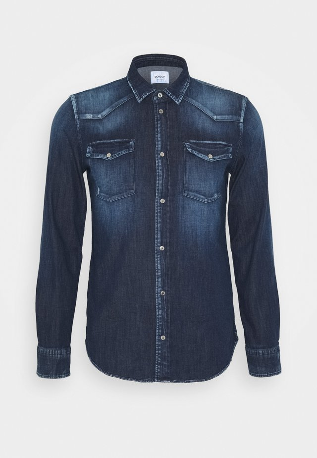 CAMICIA WESTERN BASIC - Skjorta - blue denim