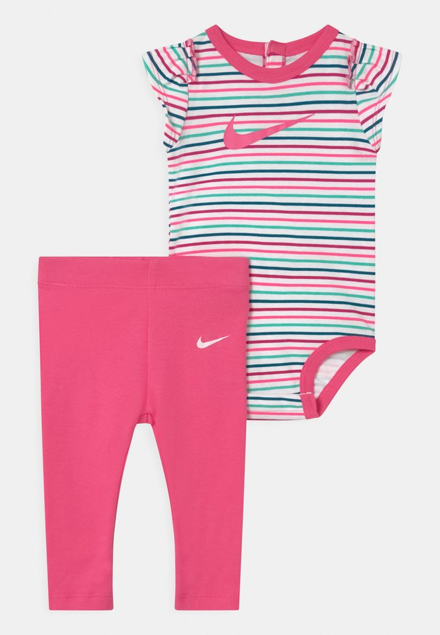 SET - Leggings - Trousers - hyper pink