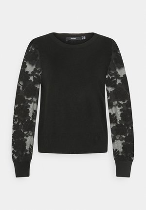 VMFLOWER O-NECK - Jersey de punto - black