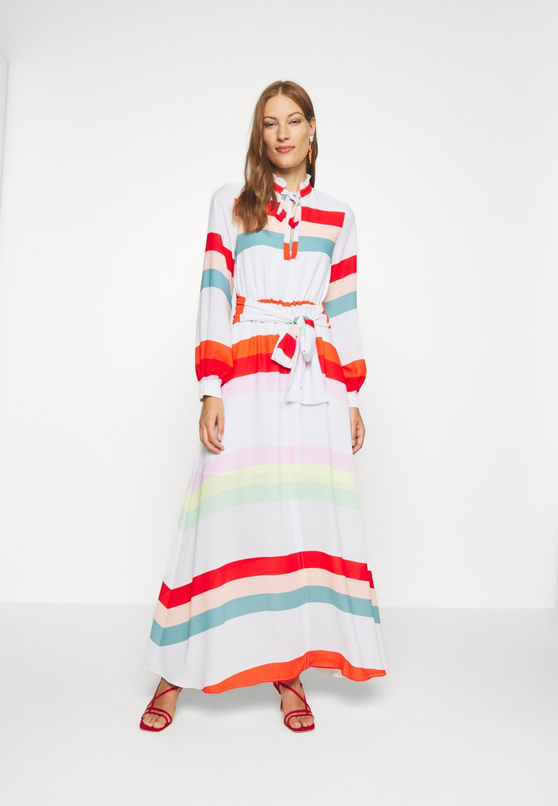 Who What Wear - BELTED DRESS - Maxi dress - multicolor