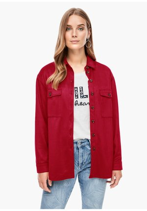 Button-down blouse - dark red
