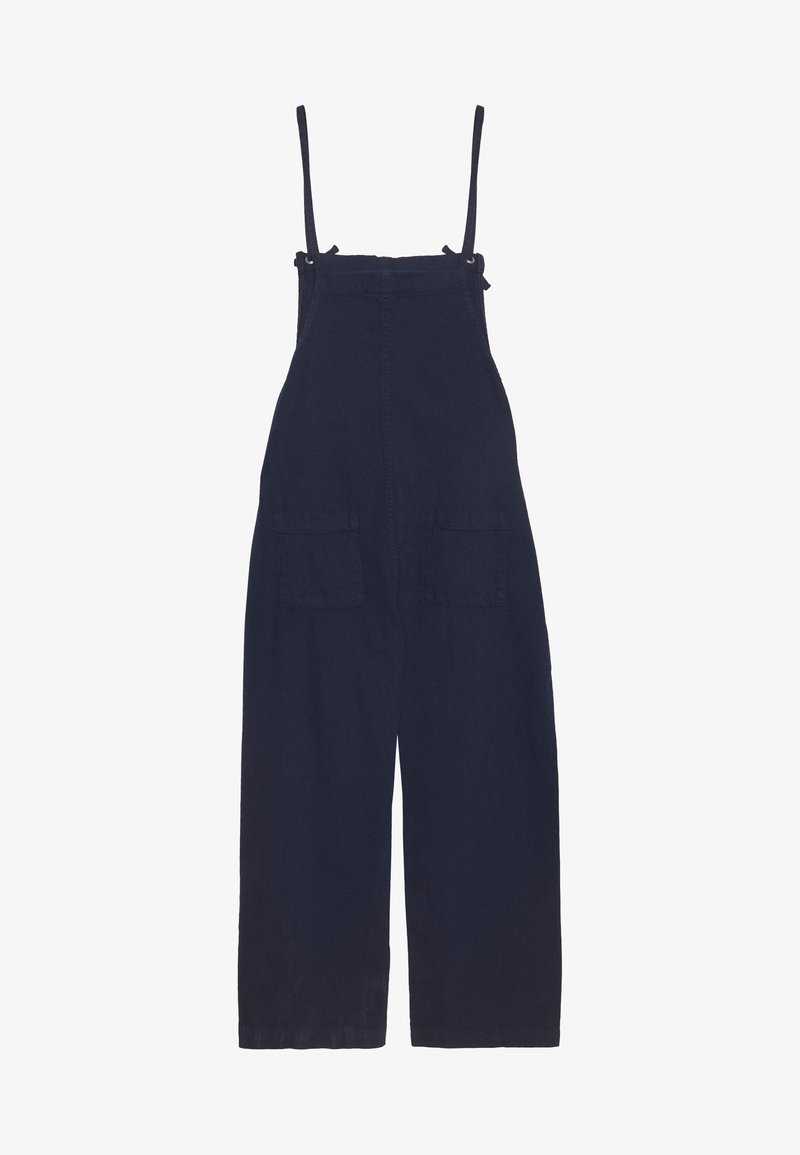 Monki - MONA DUNGAREES - Hängselbyxor - blue medium dusty