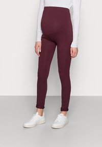 Anna Field MAMA - 3 PACK - Leggings - black/bordeaux/dark blue - 1