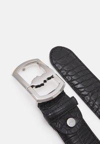 Trussardi - BELT PLACCA LEVRIERO COCCO - Belt - black - 1