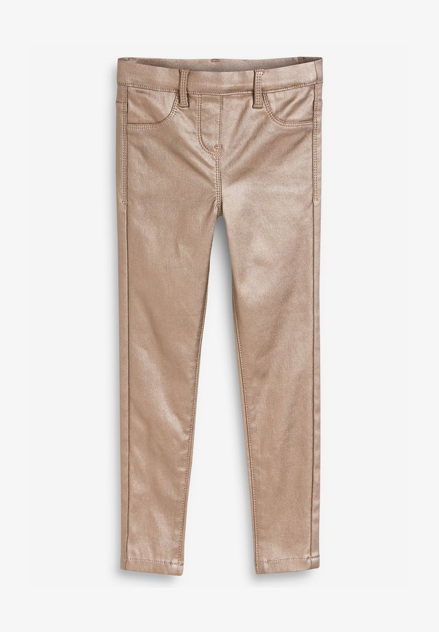 COATED JEGGINGS - Trousers - brown