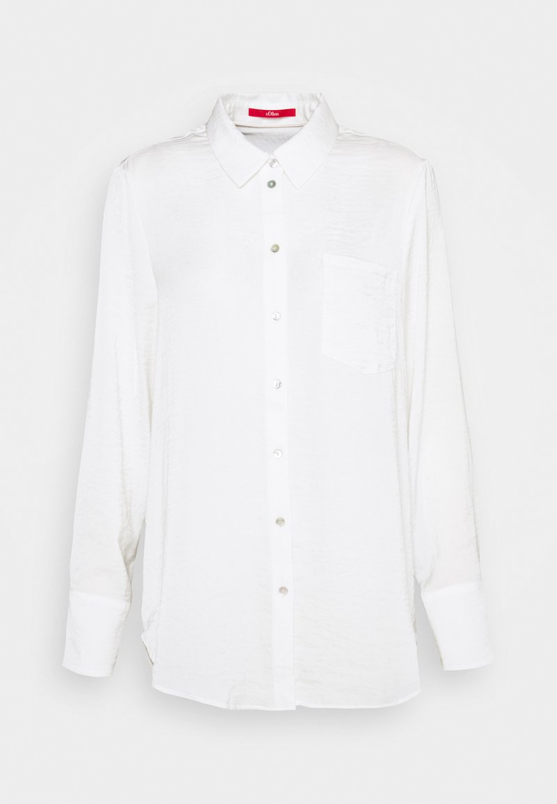s.Oliver - LANGARM - Button-down blouse - off-white