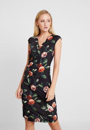 Pouzdrové šaty - black/red