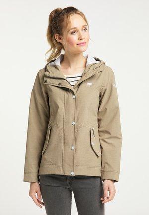 Vodotěsná bunda - khaki melange