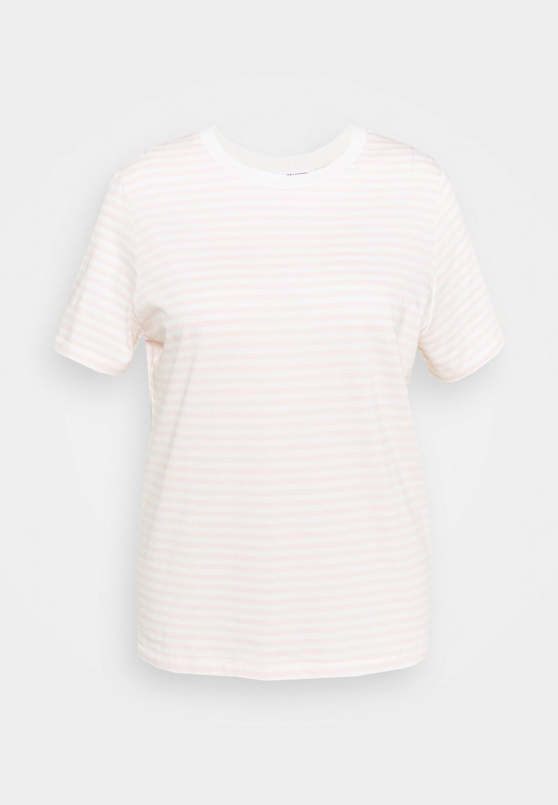Selected Femme Curve - SLFPERFECT TEE BOX - Print T-shirt - primrose pink