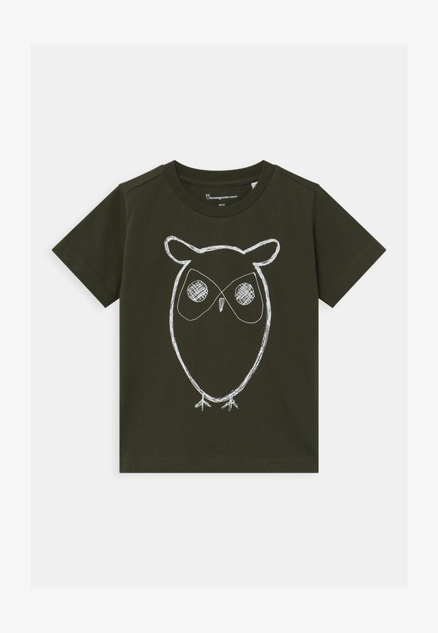 FLAX OWL - T-shirt con stampa - olive