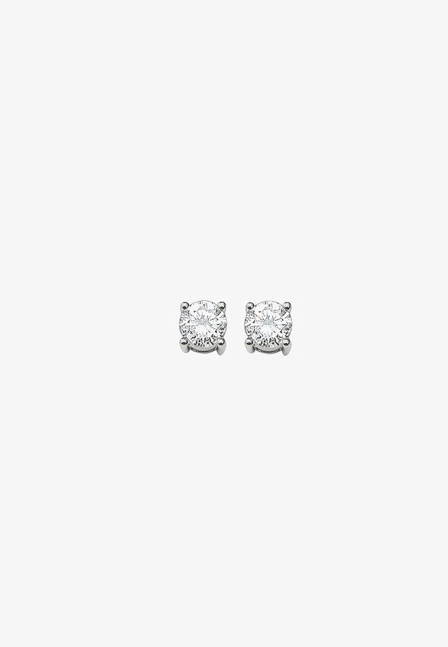 WEISSER STEIN - Oorbellen - silver-coloured/white