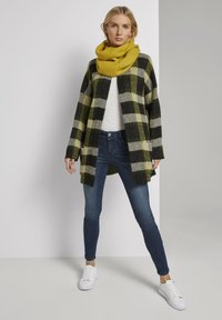TOM TAILOR - Cardigan - black yellow check knitted - 1