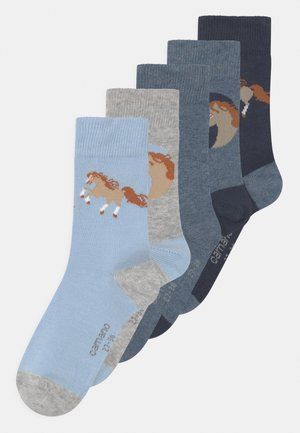 HORSE 5 PACK - Socks - blue