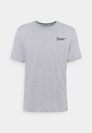 DRY TEE - T-shirt con stampa - white/pewter grey