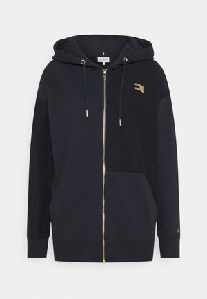 ICON RELAXED ZIP THROUGH HOODIE - Zip-up hoodie - desert sky