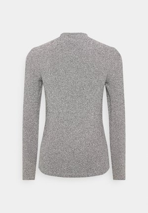 VMEMMY CHOKER  - Long sleeved top - black/silver glitter