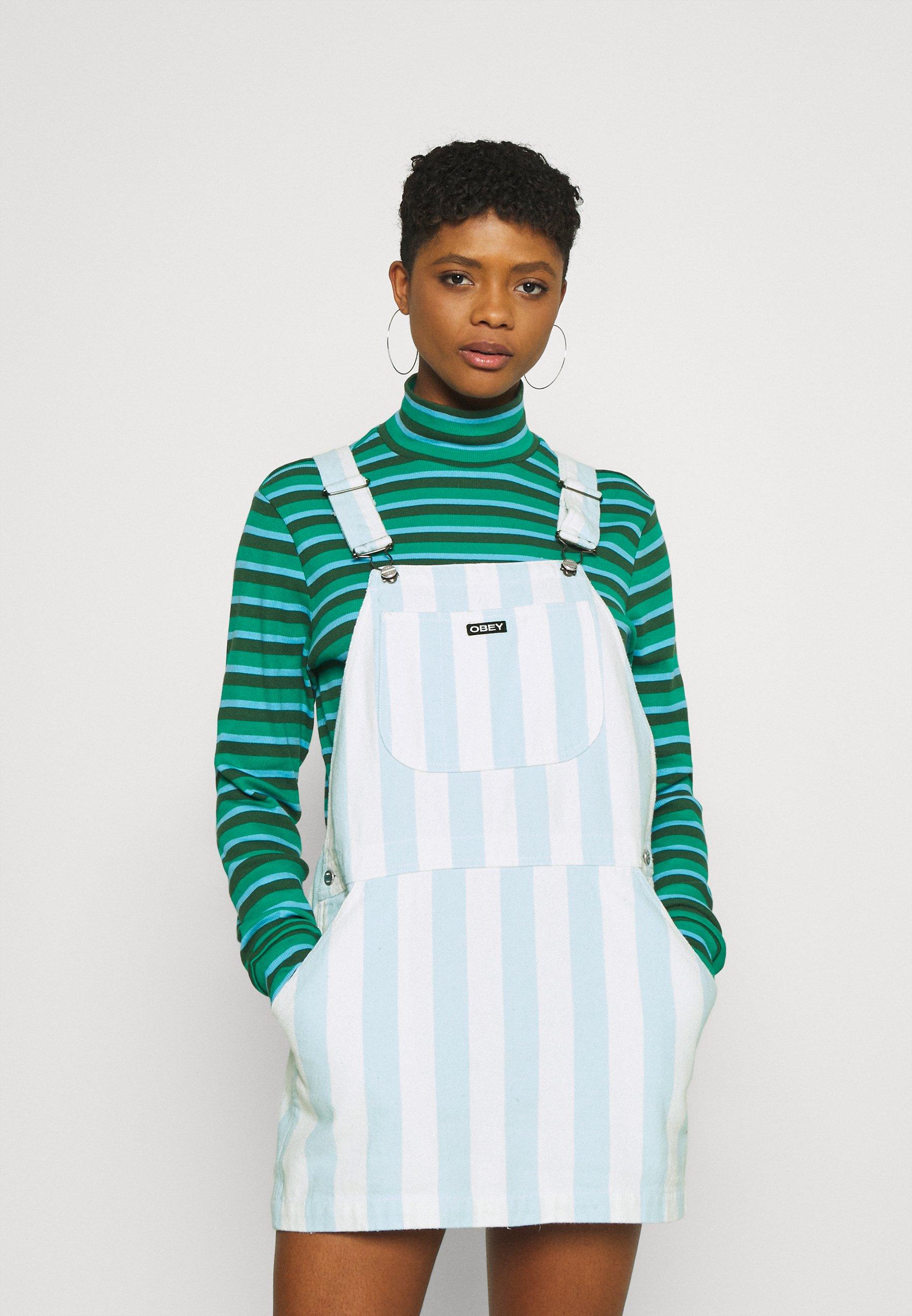 Women REX OVERALL DRESS - Denim dress - china blue