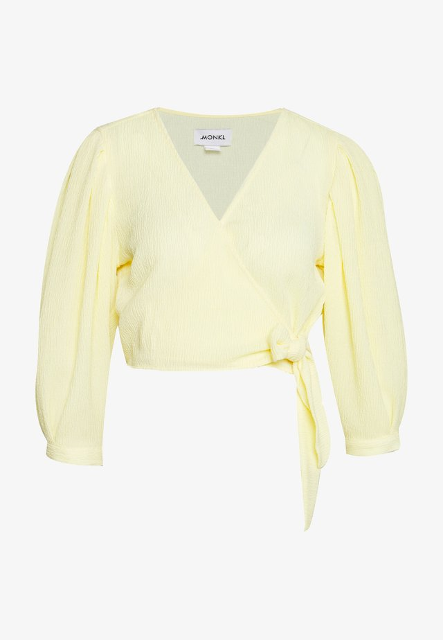 OLIVIA BLOUSE - Blůza - yellow light