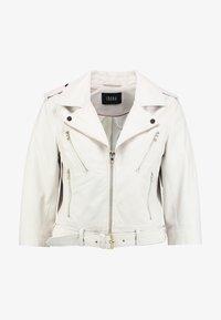 Ibana - Leather jacket - white - 3