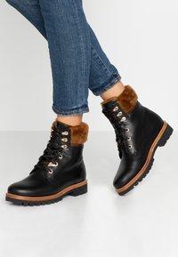 Panama Jack - PANAMA IGLOO BROOKLYN - Lace-up ankle boots - black - 0