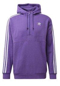 adidas Originals - STRIPES HOODIE - Mikina skapucí - purple - 11