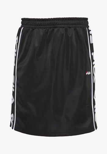 TARALA - Áčková sukně - black