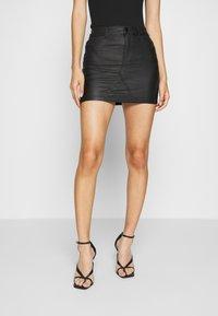 ONLY - ONLROSIE SKIRT - Leather skirt - black - 0