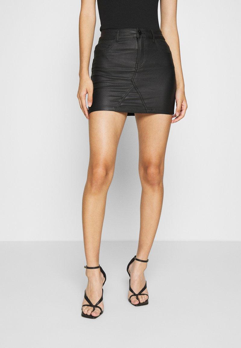 ONLY - ONLROSIE SKIRT - Leather skirt - black