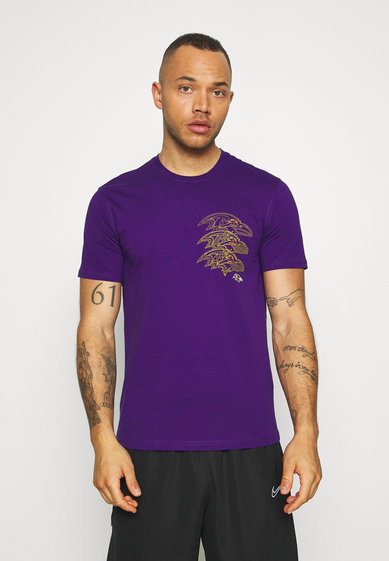Fanatics - NFL BALTIMORE RAVENS CHAIN CORE GRAPHIC - Club wear - purple