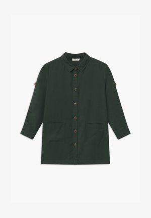 NKFLANIE TUNIC - Button-down blouse - darkest spruce