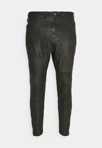 Tigha - CELSO - Leather trousers - black - 0