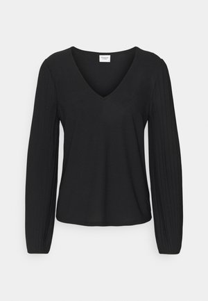 JDYJESSIE V NECK - Long sleeved top - black