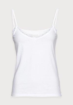 FLOW TSHIRT - Linne - white