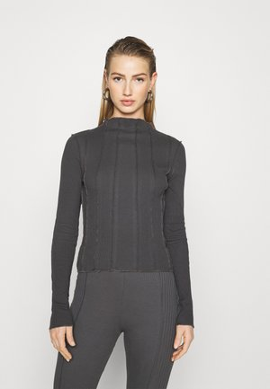 VISIBLE SEAM TOP - Long sleeved top - offblack
